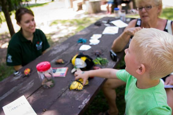 Hands-on activities at Devil's Lake State Park.