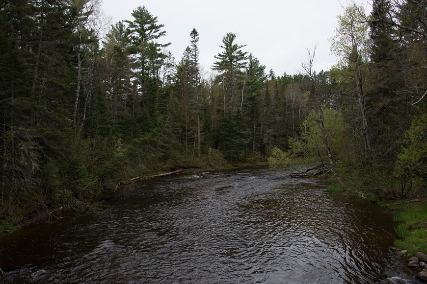 Brule River flowing through state forest lands