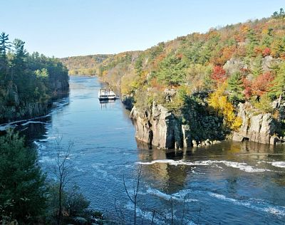 Interstate State Park bluffs in fall