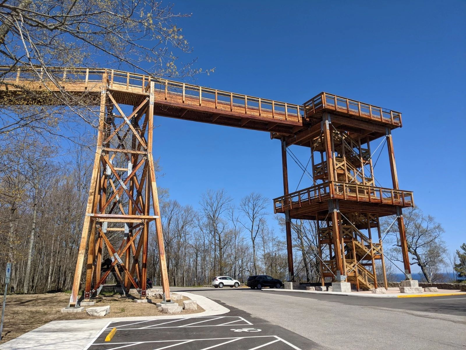 An image of the newly constructed Eagle Tower.
