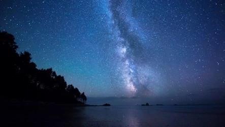 The night sky.