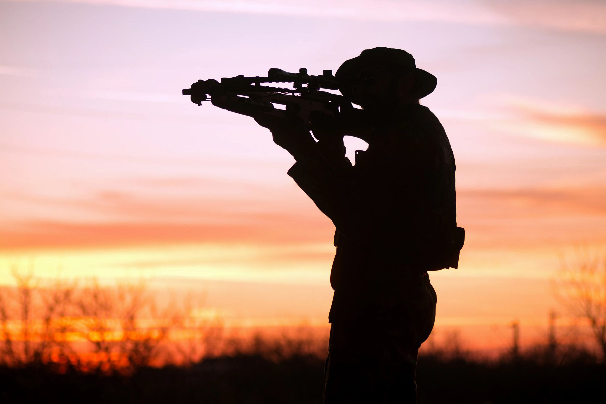 An image of a archer's silhouette at sunset.