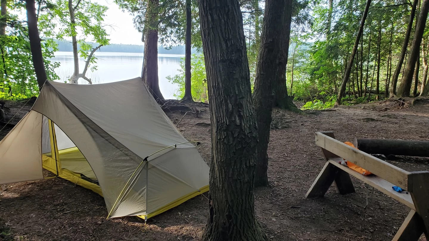 Campsite at Newport State Park