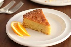 slice of polenta orange honey cake
