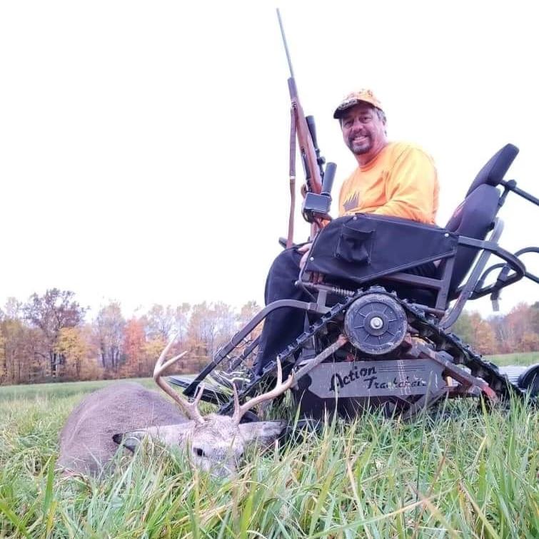 Hunter John Martinson poses after a successful hunt.